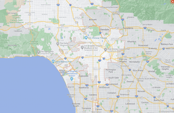 Map of Los Angeles