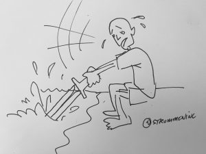 Un Coup d'épée dans l'eau - French Idiom meaning